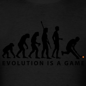 Black evolution_herren_hockey_b_2c Hoodies - Men's T-Shirt