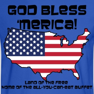 God Bless 'Merica! - Womens - Men's Long Sleeve T-Shirt