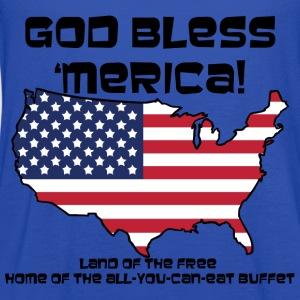 God Bless 'Merica! - Womens - Women's Flowy Tank Top by Bella