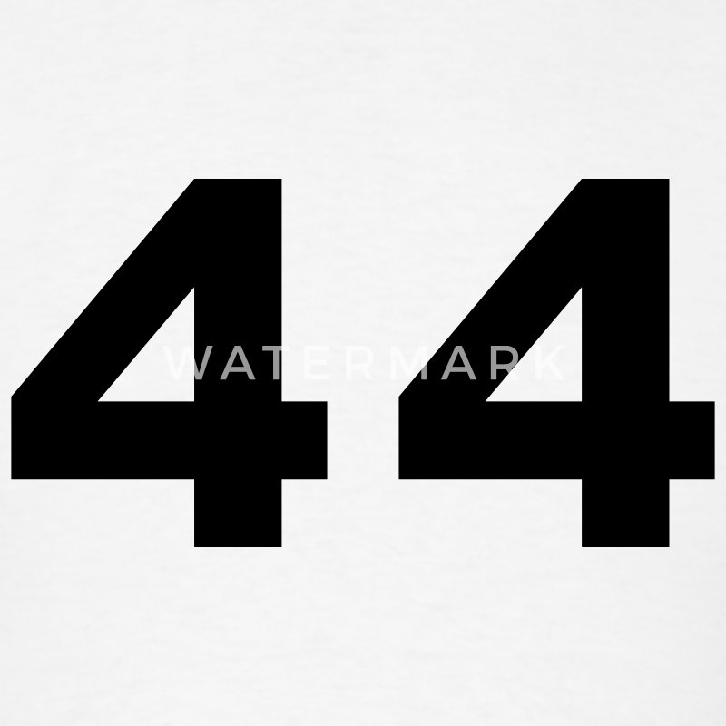 White Number - 44 - Forty Four T-Shirts - Men's T-Shirt
