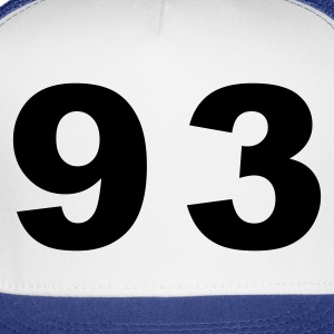 White Number - 93 - Ninety Three T-Shirts - Trucker Cap