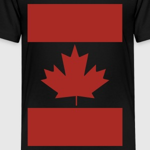 Black Vertical Canada Flag Kids' Shirts - Toddler Premium T-Shirt