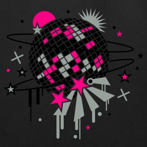 Black disco_ball Women's T-Shirts - Eco-Friendly Cotton Tote