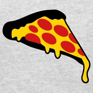 Heather grey pizza slice pepperoni Long Sleeve Shirts - Men's T-Shirt