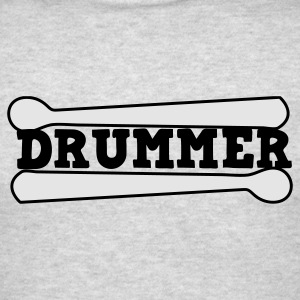 Heather grey drummer drums drum with drumsticks Long Sleeve Shirts - Men's T-Shirt