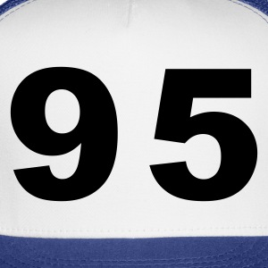 White Number - 95 - Ninety Five T-Shirts - Trucker Cap