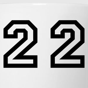 White Number - 22 - Twenty Two T-Shirts - Coffee/Tea Mug