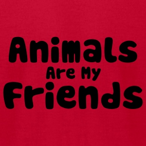 Red Animals are my Friends Baby Body - Men's T-Shirt by American Apparel