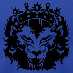 Royal blue The lion's head with crown Hoodies - Men's T-Shirt by American Apparel