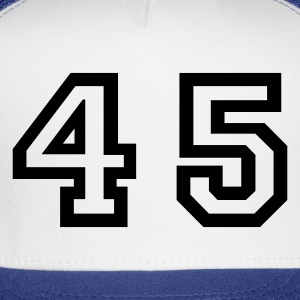White Number - 45 - Forty Five T-Shirts - Trucker Cap