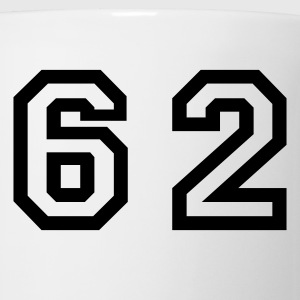 White Number - 62 - Sixty Two T-Shirts - Coffee/Tea Mug