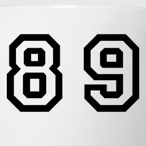 White Number - 89 - Eighty Nine T-Shirts - Coffee/Tea Mug