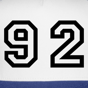 White Number - 92 - Ninety Two T-Shirts - Trucker Cap