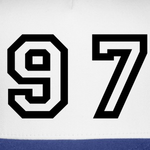 White Number - 97 - Ninety Seven T-Shirts - Trucker Cap