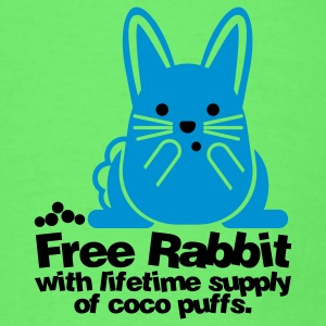 Mint green Free Rabbit Bunny Baby Body - Men's T-Shirt