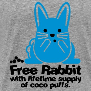 Heather grey Free Rabbit Bunny Sweatshirts - Men's Premium T-Shirt