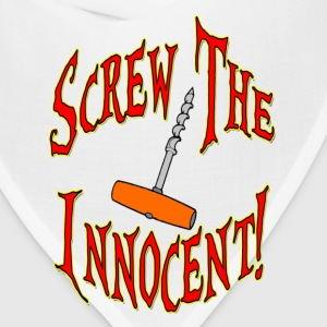 White Screw The Innocent Women's T-Shirts - Bandana