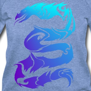 Sharp Blue Dragon - Women's Wideneck Sweatshirt