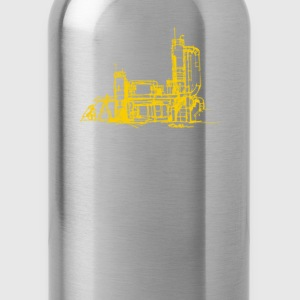 Men's gas works/yellow print - Water Bottle