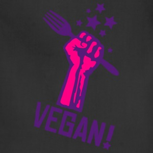 Black us_raisedfistvegan_2c T-Shirts - Adjustable Apron