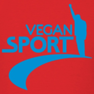 Red us_vegansport01 Hoodies - Men's T-Shirt