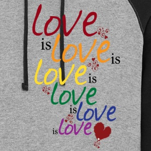 Gray Love is love (Gay Marriage) Women's T-Shirts - Colorblock Hoodie