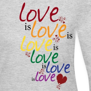 Gray Love is love (Gay Marriage) Women's T-Shirts - Women's Long Sleeve Jersey T-Shirt