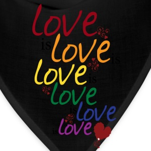 Gray Love is love (Gay Marriage) Women's T-Shirts - Bandana