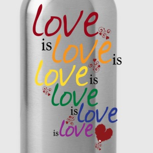 Gray Love is love (Gay Marriage) Women's T-Shirts - Water Bottle