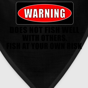 Khaki WARNING! DOES NOT FISH WELL WITH OTHERS T-Shirts - Bandana