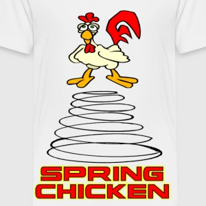 White Spring Chicken Kids' Shirts - Toddler Premium T-Shirt