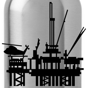 Navy offshore oil rig (1c) Kids' Shirts - Water Bottle