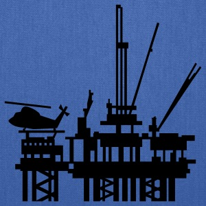 Navy offshore oil rig (1c) Kids' Shirts - Tote Bag