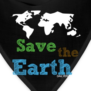 Light blue Save the Earth Women's T-Shirts - Bandana