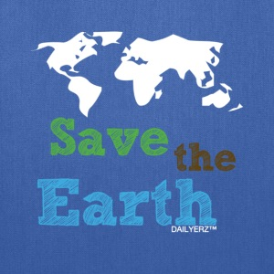 Light blue Save the Earth Women's T-Shirts - Tote Bag