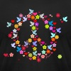 Black flower power peace (DDP) T-Shirts - Men's T-Shirt by American Apparel
