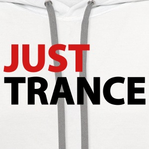 White Just Trance Women's T-Shirts - Contrast Hoodie
