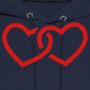 Navy Hearts T-Shirts - Men's Hoodie