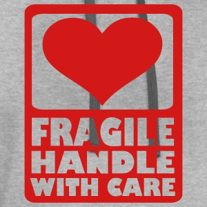 Light oxford Fragile Handle with care T-Shirts - Contrast Hoodie