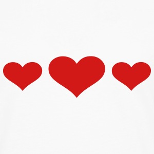 White Hearts T-Shirts - Men's Premium Long Sleeve T-Shirt