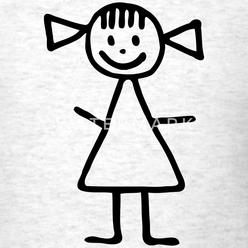 Light oxford Stickman - girl T-Shirts - Men's T-Shirt