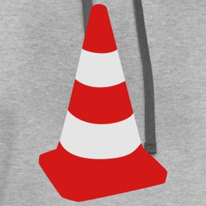 Light oxford Traffic cone T-Shirts - Contrast Hoodie