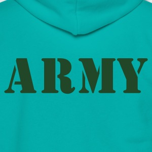 Teal army in stencil Women's T-Shirts - Unisex Fleece Zip Hoodie by American Apparel