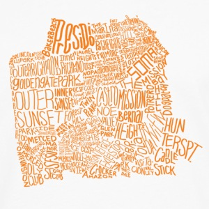 San Francisco Neighborhoods - Men's Premium Long Sleeve T-Shirt