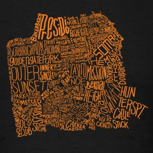 San Francisco Neighborhoods - Men's T-Shirt