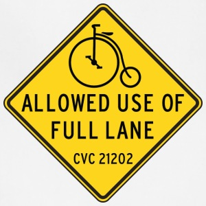 Bikes Allowed Use of Full Lane with Penny Farthing - Adjustable Apron