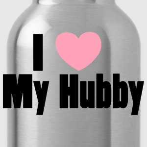 Fuchsia I Love My Husband Hubby Tanks - Water Bottle