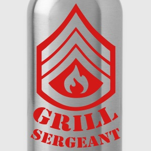Black Grill Sergeant - BBQ T-Shirts - Water Bottle