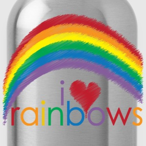 Classic pink i_love_rainbows Kids' Shirts - Water Bottle