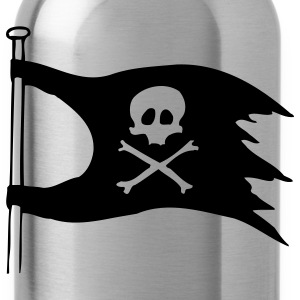 Black jolly roger T-Shirts - Water Bottle